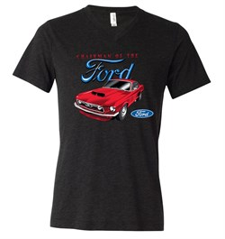 Image of Ford Mustang Mens Shirt Chairman of the Ford Tri Blend V-neck Tee