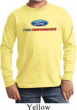 Ford Performance Parts Kids Long Sleeve Shirt