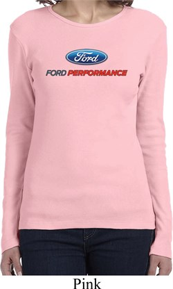 Ford Performance Parts Ladies Long Sleeve Shirt