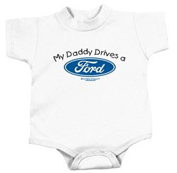 Image of Ford Romper My Daddy Drives a Ford Infant Baby Creeper