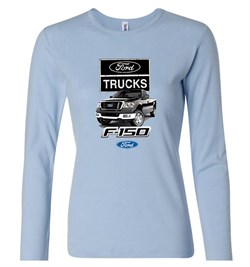 Image of Ford Truck Shirt F-150 Ladies Long Sleeve Tee T-Shirt