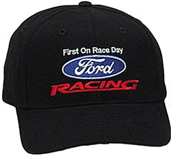 Ford Racing Hat  - Two Tone Fine Embroidered Logo Adjustable Cap