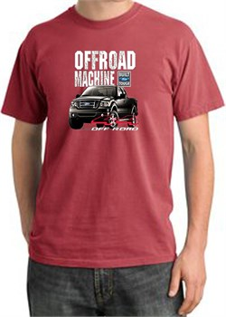 Image of Ford Truck Pigment Dyed T-Shirt - F-150 4X4 Offroad Dashing Red Tee