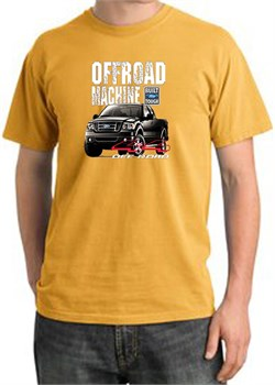 Image of Ford Truck Pigment Dyed T-Shirt - F-150 4X4 Offroad Adult Mustard Tee