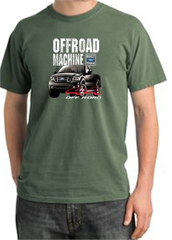 Image of Ford Truck Pigment Dyed T-Shirt - F-150 4X4 Offroad Olive Tee