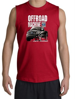 Image of Ford Truck Shooter Shirt - F-150 4X4 Offroad Machine Red Muscle Shirt