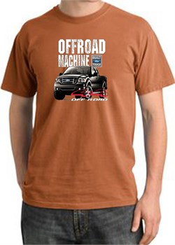 Image of Ford Truck Pigment Dyed T-Shirt - F-150 4X4 Offroad Burnt Orange Tee