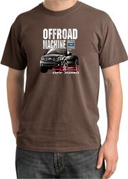 Image of Ford Truck Pigment Dyed T-Shirt - F-150 4X4 Offroad Adult Chestnut Tee