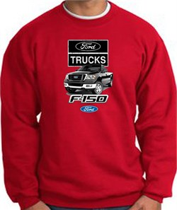 Image of Ford Truck Sweatshirt - F-150 Truck Adult Red Sweat Shirt