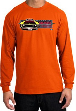 Image of Ford Mustang Boss Long Sleeve Shirt - 302 Yellow Mustang Orange Tee