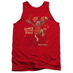 Fraggle Rock Tank Top Dance Red Tanktop