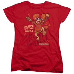 Fraggle Rock Womens Shirt Dance Red T-Shirt