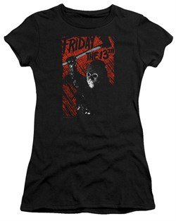 Friday the 13th Juniors Shirt Jason Lives Black T-Shirt