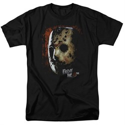 Friday the 13th Shirt Jason Voorhees Mask Black T-Shirt