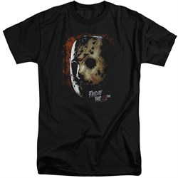 Friday the 13th Shirt Jason Voorhees Mask Tall Black T-Shirt
