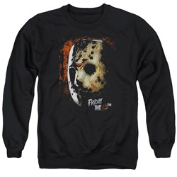 Friday the 13th Sweatshirt Jason Voorhees Mask Adult Black Sweat Shirt