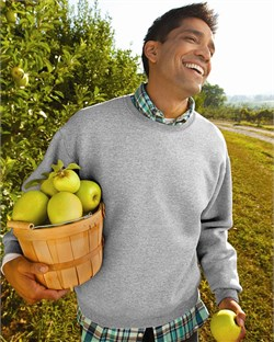 Image of Fruit of the Loom Super Cotton Blended Crewneck Sweatshirt
