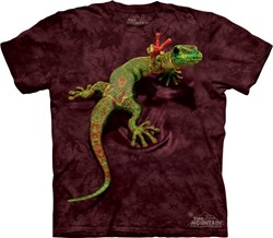 Image of Gecko Shirt Funny Lizard Peace Out T-shirt Tie Dye Adult Tee
