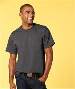 Image of Gildan Shirt with Pocket Ultra Cotton Tee T-Shirt