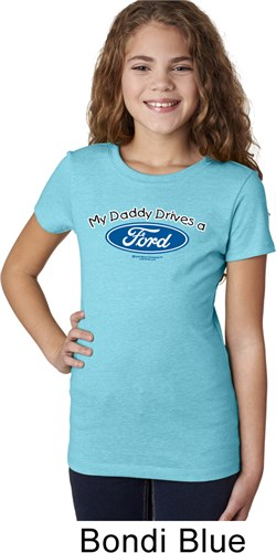 Image of Girls Ford Shirt My Daddy Drives a Ford Tee T-Shirt