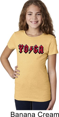 Image of Girls Yoga Shirt Classic Rock Yoga Tee T-Shirt