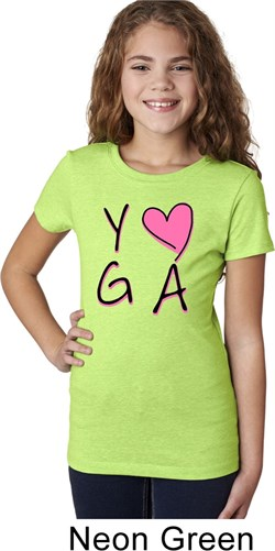Image of Girls Yoga Shirt Yoga Love Tee T-Shirt