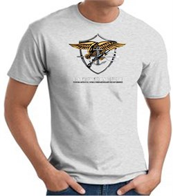 U.S. Navy Seals T-Shirts? Devgru Adult Ash