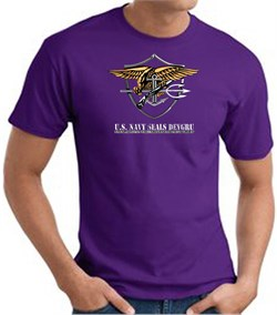 U.S. Navy Seals T-Shirts? Devgru Adult Purple