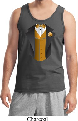 Image of Gold Vest Tuxedo Mens Tank Top