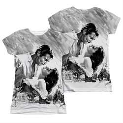 Gone With The Wind BW Poster Sublimation Juniors Shirt Front/Back Print