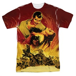 Gone With The Wind Fire Poster Sublimation Shirt