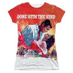 Gone With The Wind Poster Sublimation Juniors Shirt