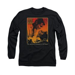 Gone With The Wind Shirt Greatest Romance Long Sleeve Black Tee T-Shirt