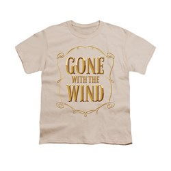 Gone With The Wind Shirt Kids Logo Cream Youth Tee T-Shirt