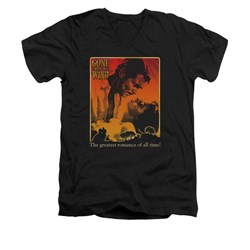 Gone With The Wind Shirt Slim Fit V Neck Greatest Romance Black Tee T-Shirt