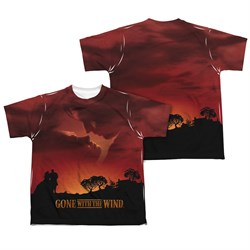 Gone With The Wind Sunset Sublimation Kids Shirt Front/Back Print