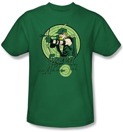 Green Arrow T-shirt - DC Comics Adult Kelly Green Tee