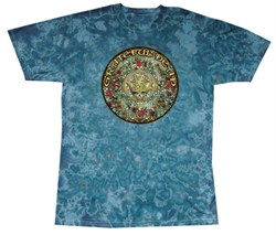 Image of Grateful Dead T-shirt Mandala Turquoise Tie Dye Tee