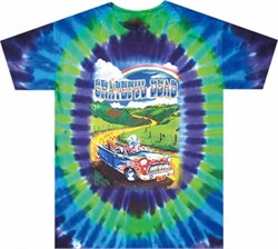 Image of Grateful Dead Shirt Tie Dye Truckin to Buffalo Tee T-Shirt
