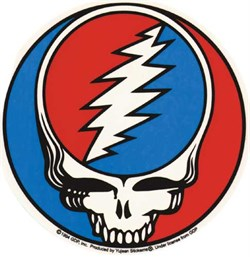 "Image of Grateful Dead Sticker Stealie 4"" X 6"" Sticker"