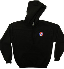 Image of Grateful Dead Hoody SYF Hooded Sweatshirt Pocket Print Black Hoody
