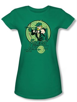 Green Arrow Juniors T-shirt - DC Comics Kelly Green Tee