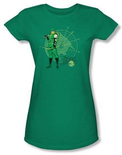 Green Arrow Juniors T-shirt - Arrow Target DC Comics Kelly Green Tee