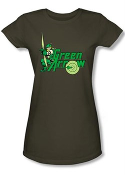 Green Arrow Juniors T-shirt - Green Arrow Military Green Tee