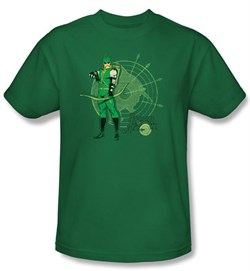 Green Arrow Kids T-shirt Arrow Target DC Comics Youth Kelly Green Tee