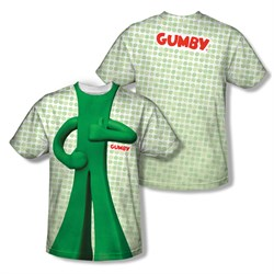 Image of Gumby Shirt Costume Sublimation Youth Shirt Front/Back Print