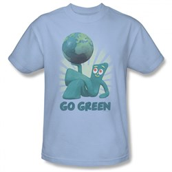 Image of Gumby Shirt Go Green Light Blue T-Shirt