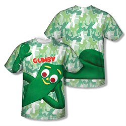 Image of Gumby Shirt Gumbyflage Sublimation Youth Shirt Front/Back Print