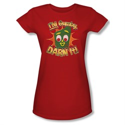 Image of Gumby Shirt Juniors Darn It Red T-Shirt