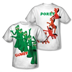 Image of Gumby Shirt Pose Sublimation Youth Shirt Front/Back Print